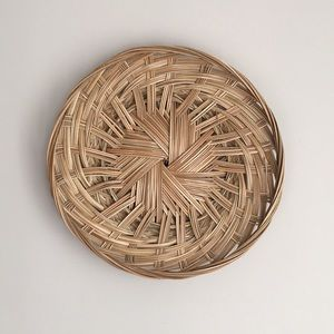 Wicker basket plate for wall decor / Panier Ratin